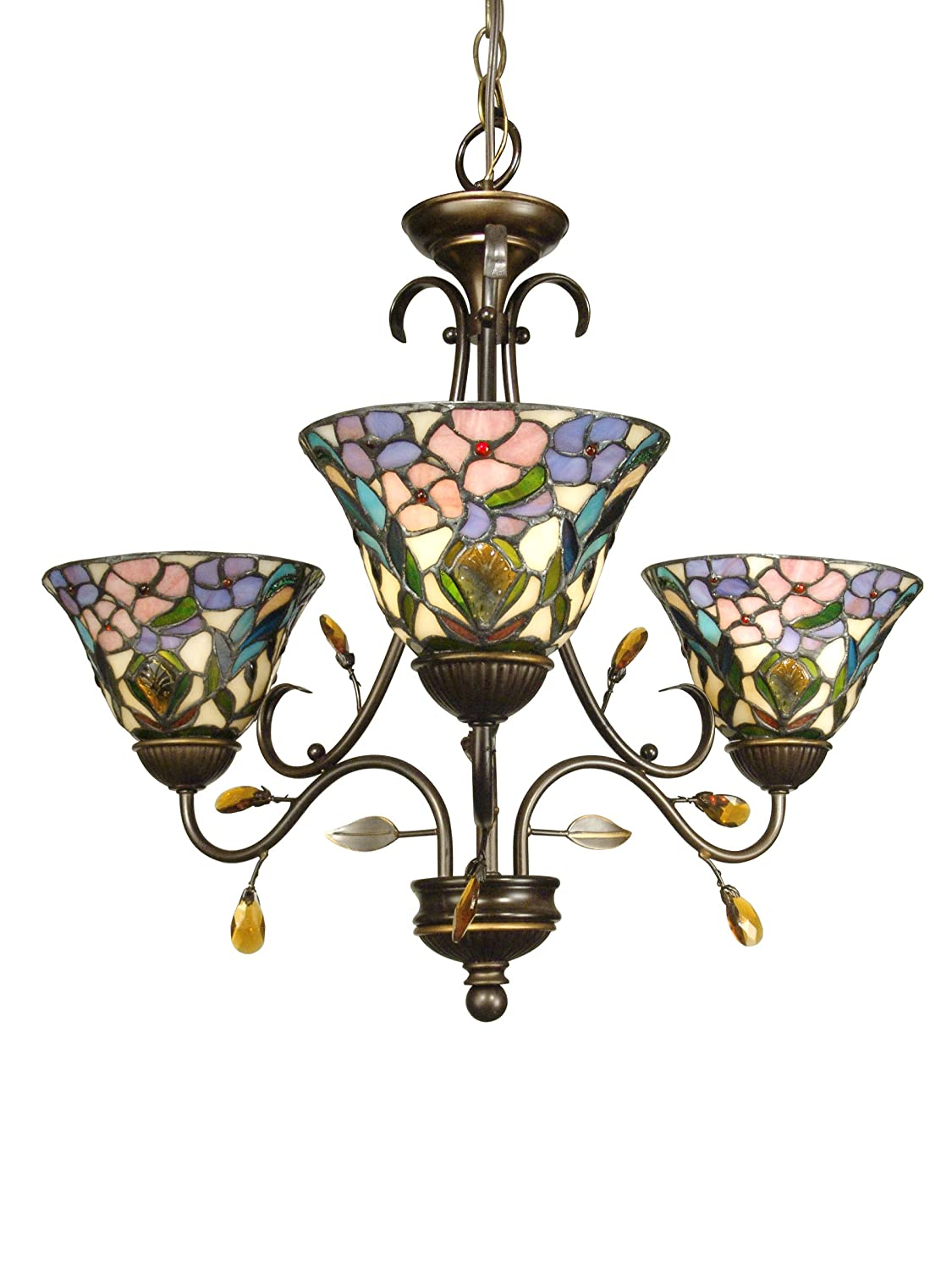 Dale tiffany th90214 3 light crystal peony chandelier antique dale tiffany th90214 3 light crystal peony chandelier antique golden sand and art glass shade dale tiffany crystal lamps amazon arubaitofo Gallery