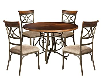 Amazoncom Powell 697 413M1 Hamilton Dining Set 5 Piece Table