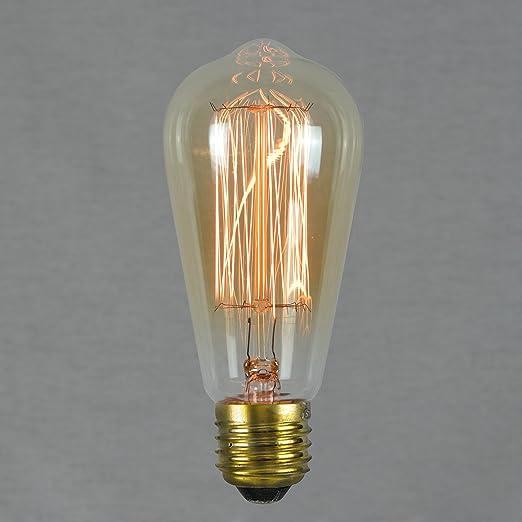 40 opinioni per Lampadina Vintage Edison 60W- Retro Filamento Decorativo 64mm E27- The Retro