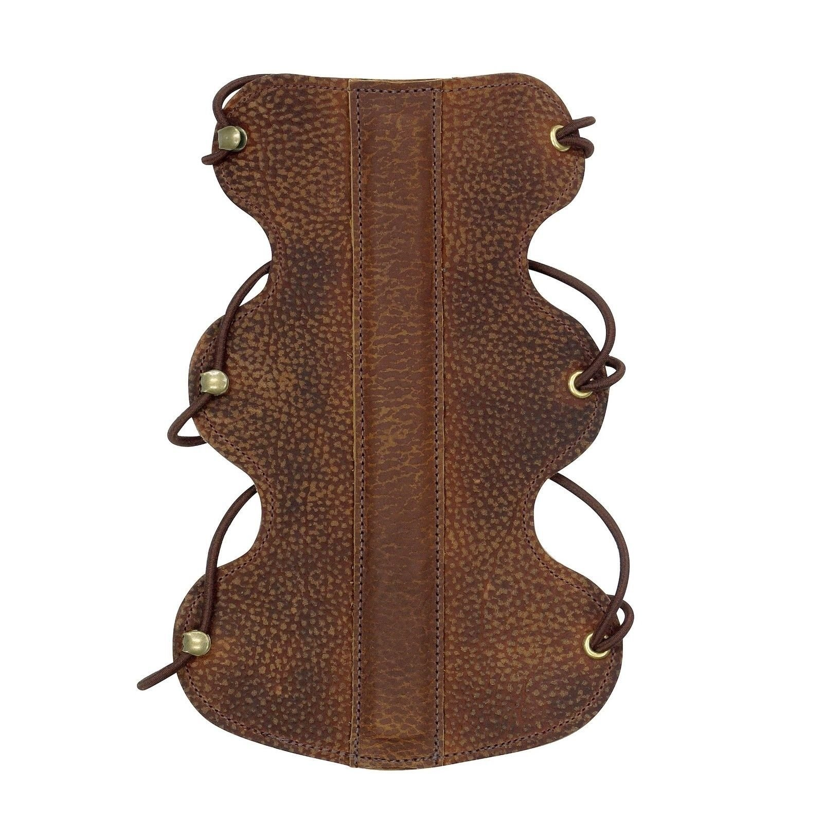 Serious Archery Vintage Stiff Back Armguard Brown Leather