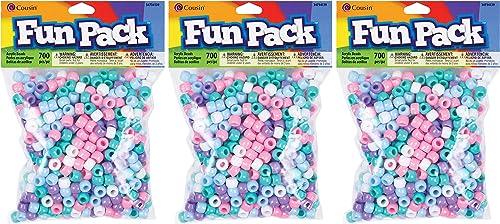 Cousin Pastel Color Mix Pony Bead Fun Pack hr P ck