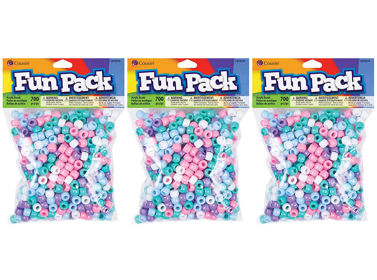 Cousin Pastel Color Mix Pony Bead Fun Pack hr P ck