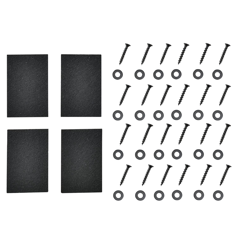 Gambe da tavolo nero in set di 2 pezzi en.casa 100 x 72 cm Piedi per tavolo da pranzo con protezione di pavimento