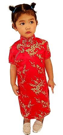 Amazon.com: total2550 Little Girls vestido chino cheongsam ...