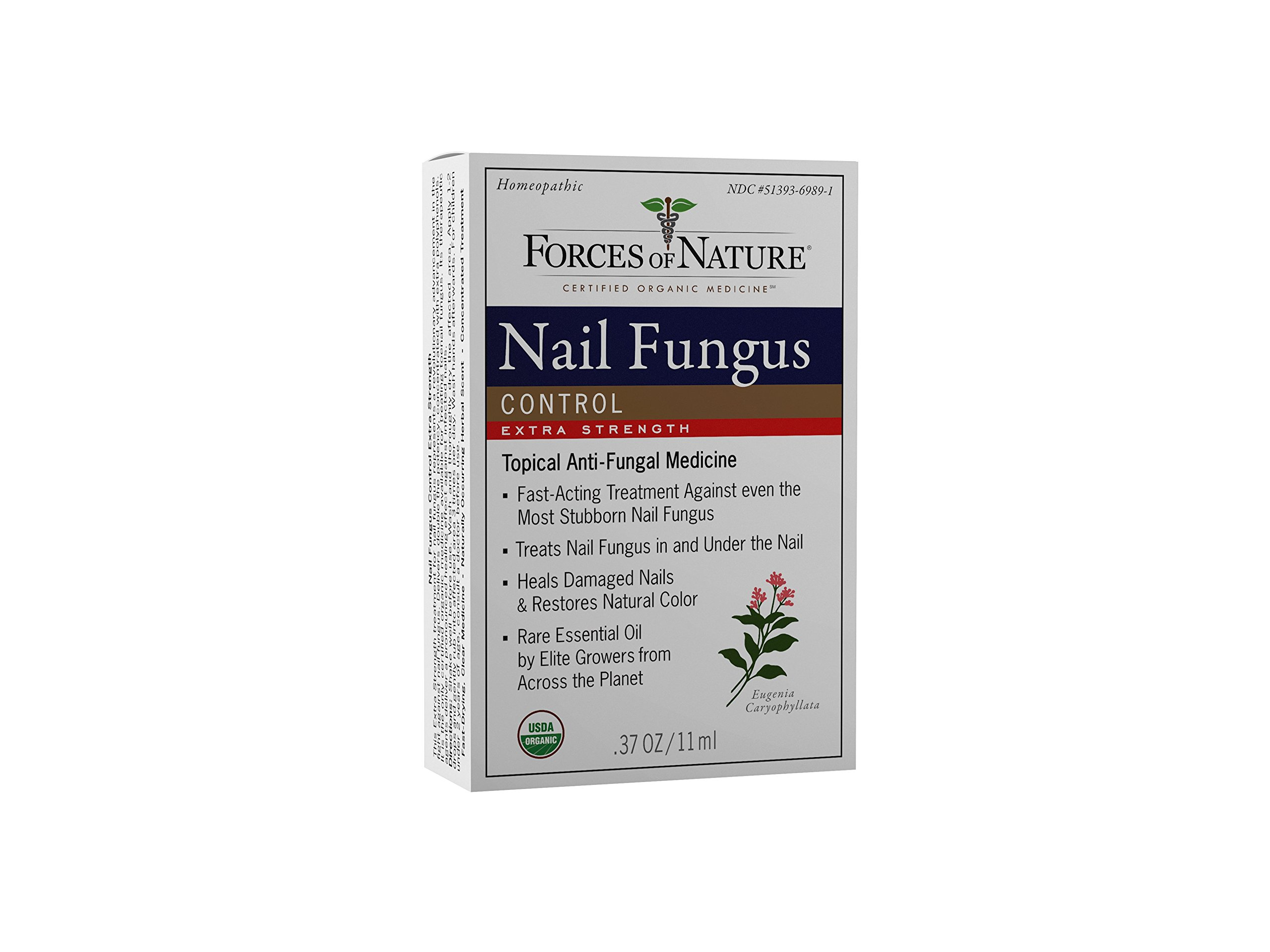 Forces of Nature -Natural, Organic Nail Fungus Extra Strength Treatment (11ml) Non GMO, No Harmful Chemicals -Fight Damaged, Cracked, Brittle, Discolored Yellow and black Toenails, Fingernails by Forces Of Nature