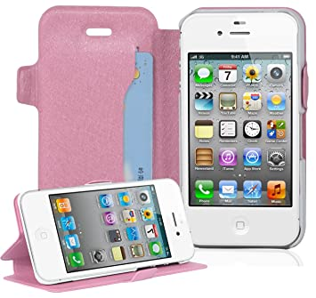 aff8ad0bf925af Cadorabo Hülle für Apple iPhone 4 / iPhone 4S - Hülle in ICY ROSE –  Handyhülle