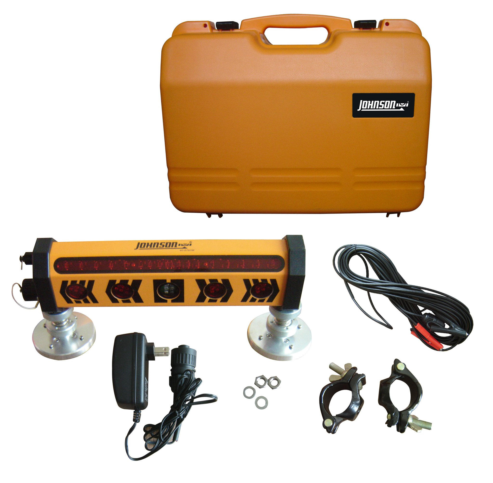 Johnson 40-6791 Machine Mountable 360-Degree Laser Detector with Clamp and Magnet
