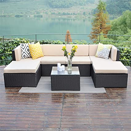Amazon Com Wisteria Lane Outdoor Patio Furniture Sets 7 Pcs