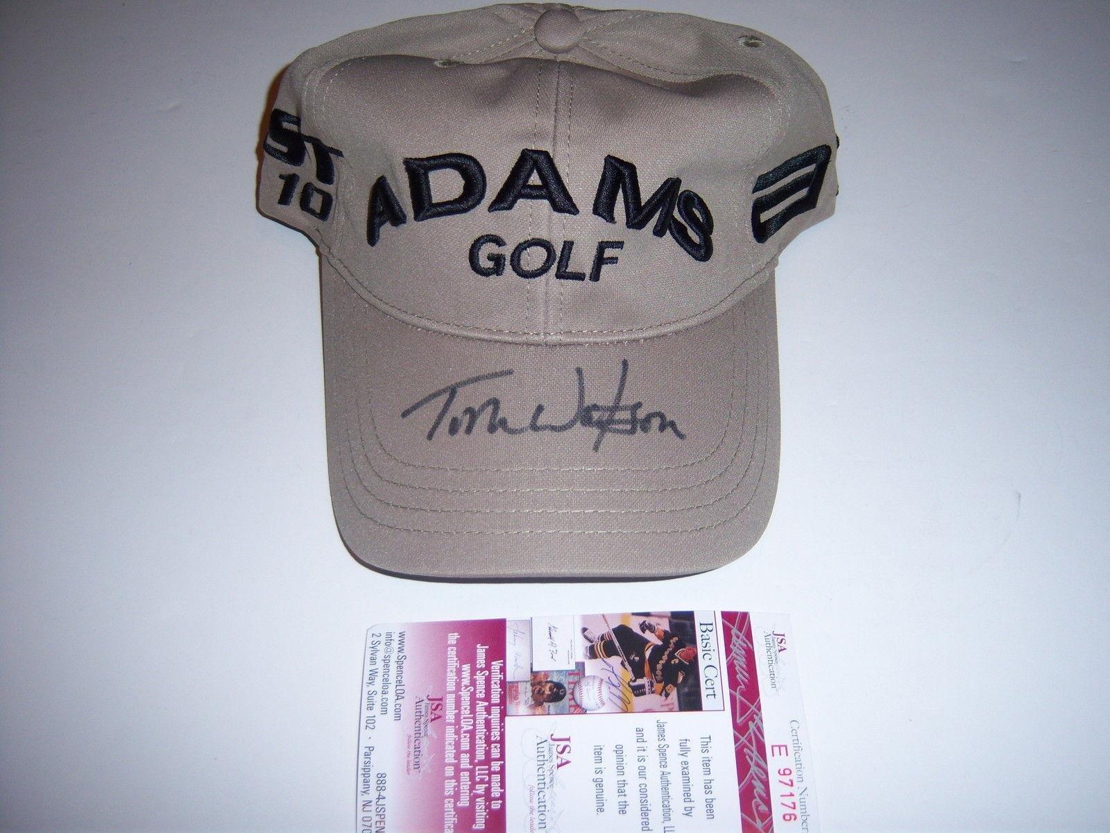 Tom Watson Masters Champ coa Signed Adams Golf Hat JSA Certified Autographed Golf Hats and Visors