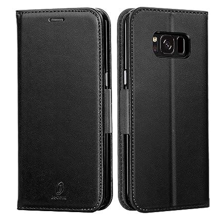 J Jecent Samsung Galaxy S7 Hülle Galaxy S7 Handyhülle PU Flip Leder Cover mit Cash Card Slots, Ständer Funktion und Magnetver