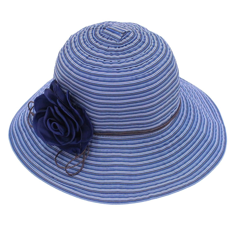 Tomily Women Summer Sun Hat Caps with Flower Outdoor UPF 50+ Beach hat