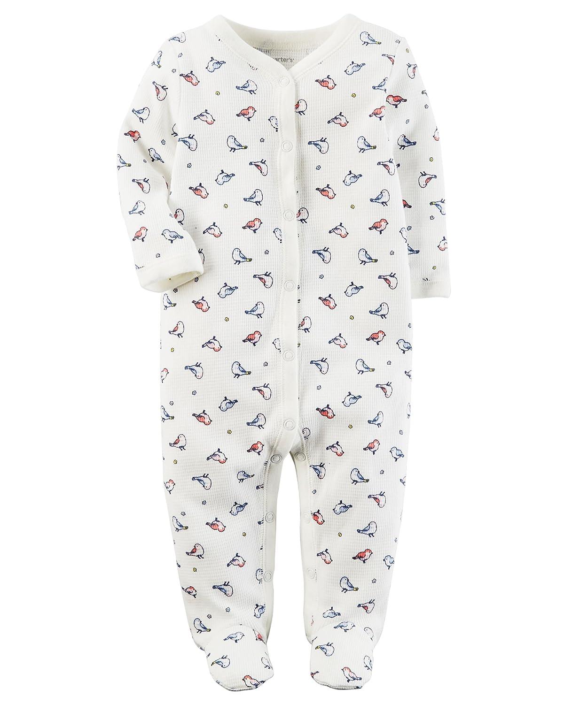Carters Baby Girls One Piece Bird Print Sleep /& Play