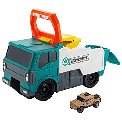 Matchbox Power Launcher Garbage Truck: Toys & Games
