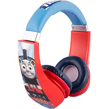 Thomas and Friends Cartoon Character Train 30385 Kid Safe Over the Ear Headphone w/Volume Limiter by Sakar, 3.5MM Stereo Jack, Blue, Red & White by Sakar