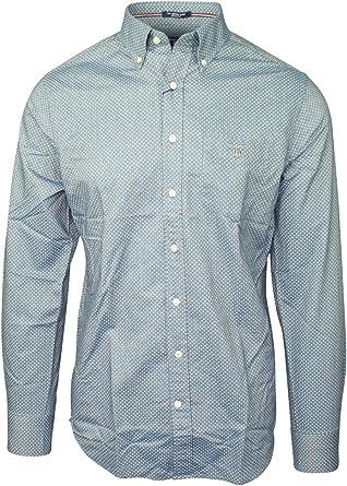 Gant Camisa gris de lunares gris Small: Amazon.es: Ropa y ...