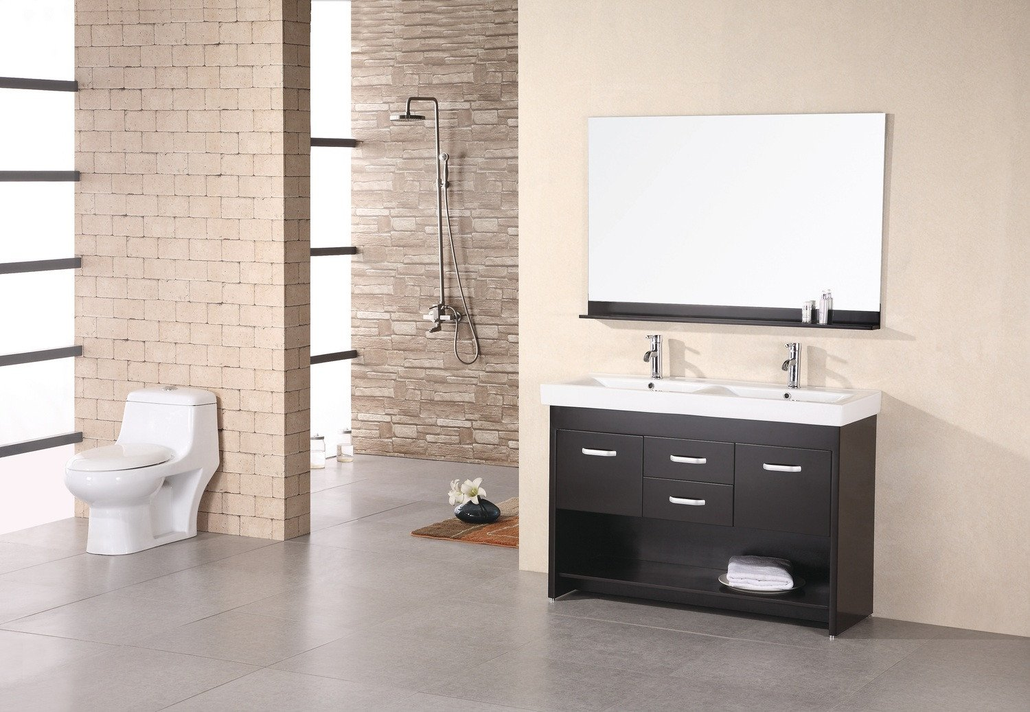 Design Element - DEC074 - Citrus 48'' Double Vanity Espresso by Design Element (Image #1)