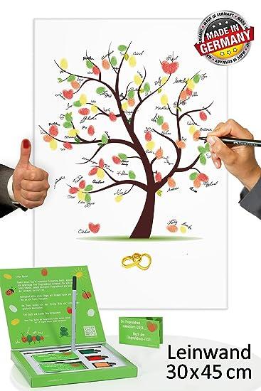 Hochzeitsbaum Fingerabdruck 45x30 Inkl Zubehor Set Gratis