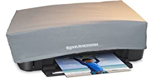 DigitalDeckCovers HP Envy 5540/5542/ 5544/5545/ 5546/5642/ 5643/5660/ 5664/5665 & Envy Photo 6255/7155/ 7164 Printer Dust Cover and Protector [Antistatic, Water Resistant, Heavy Duty, Silver]