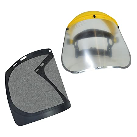 Safety Helmet Hat Forestry Gardening Chainsaw Protection Mesh   Clear Visor   Amazon.co.uk  DIY   Tools 6d52ec70c611