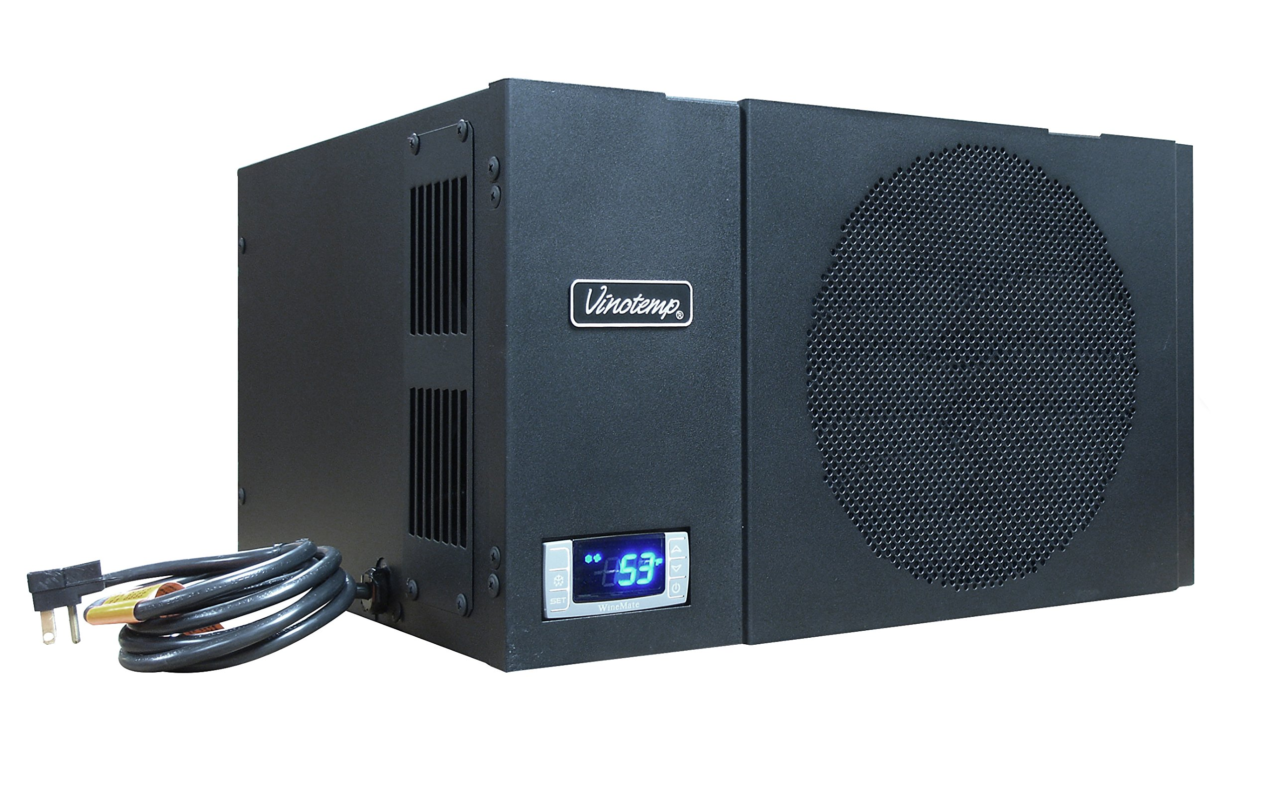 Vinotemp WM-1500-HTD Wine-Mate Self-Contained Cellar Cooling System, Black