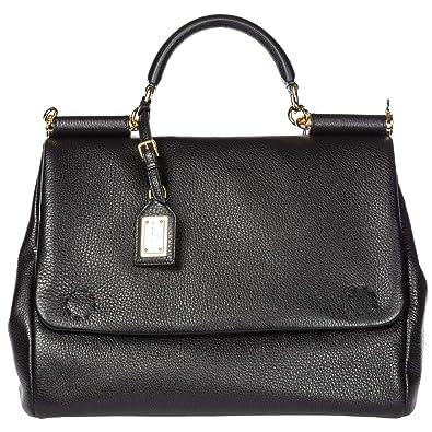 7591f140dfeeb7 Dolce   Gabbana sac à main femme en cuir tote Sicily tote noir ...
