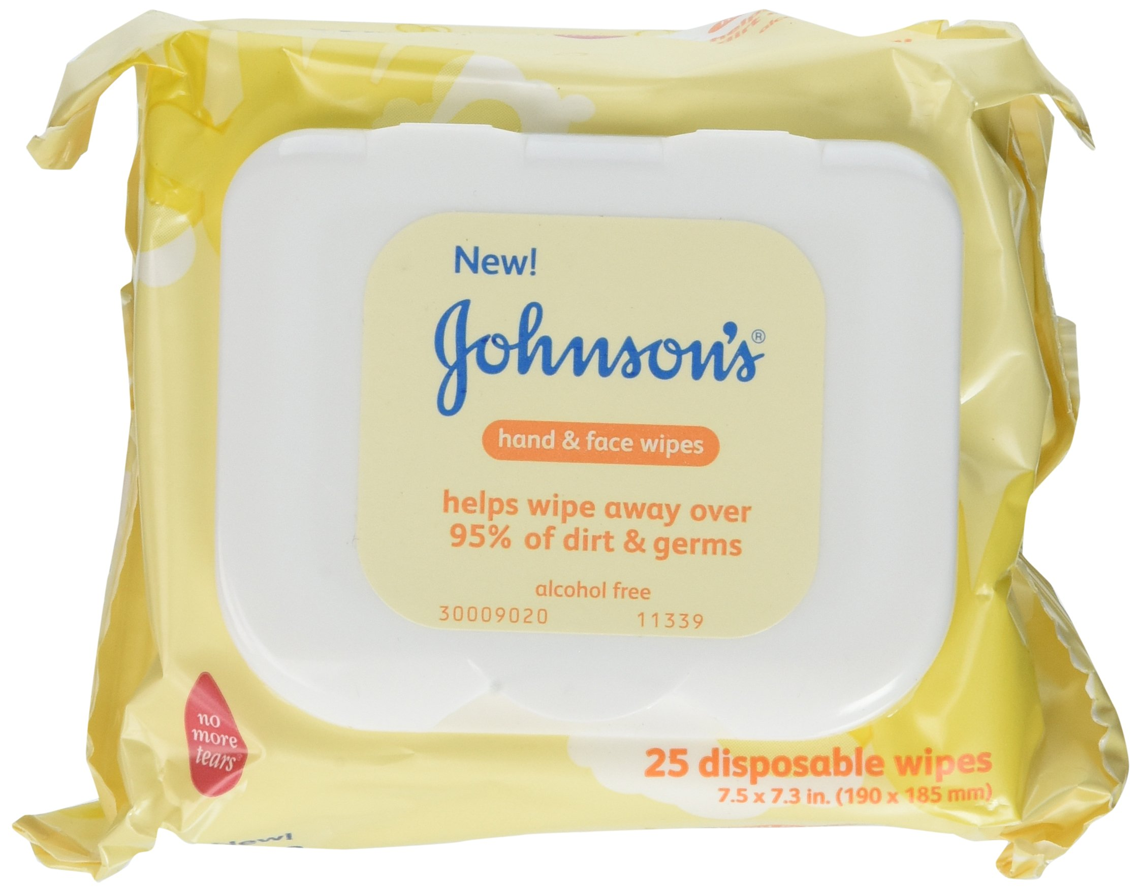 Johnsons Baby Hand and Face Wipes, 25-count (Pack of 3)