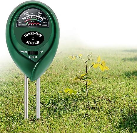 PH Meter Erde Sonnenlicht Feuchtigkeit Messgerät Boden Tester Bodentester LOT