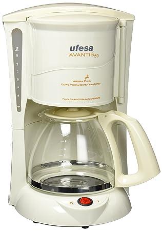 Ufesa CG7230 Avantis 50 Cafetera Goteo, Color Blanco, 800 W, Plástico: Amazon.es: Hogar