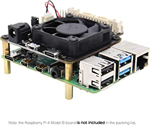 Geekworm Raspberry Pi 4B/3B+/3B X735 Power Management with Safe Shutdown Auto Cooling Expansion Board Compatible with Raspberry Pi 4 Model B