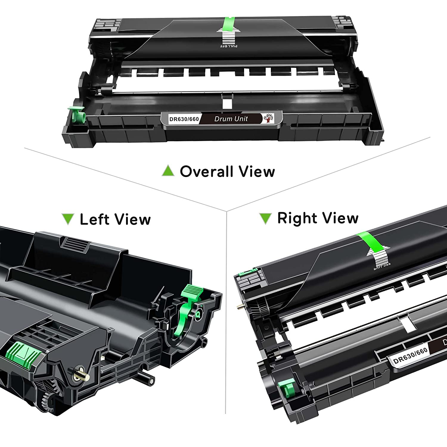GREENSKY Compatible 1Pack Drum Unit Replacement for Brother DR630 for DCP-L2520DW DCP-L2540DW HL-L2300D HL-L2305W HL-L2320D HL-L2340DW HL-L2360DW ...