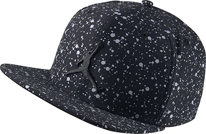 83a03742b56 ... where can i buy jordan nike mens speckle print snapback hat black  silver 821830 010 a7e43 ...