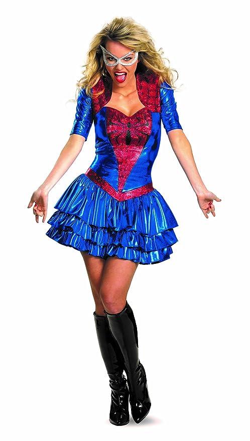 sc 1 st  Amazon.com & Amazon.com: Disguise Marvel Spider Sassy Deluxe Costume: Clothing