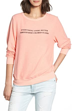 21f132f509 Wildfox Rose Glasses Baggy Beach Jumper Sweater at Amazon Women's ...