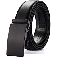 Chaoren Ratchet Leather Dress Belt for Men Adjustable with Slide Ratchet Buckle, Trim to Exact Fit