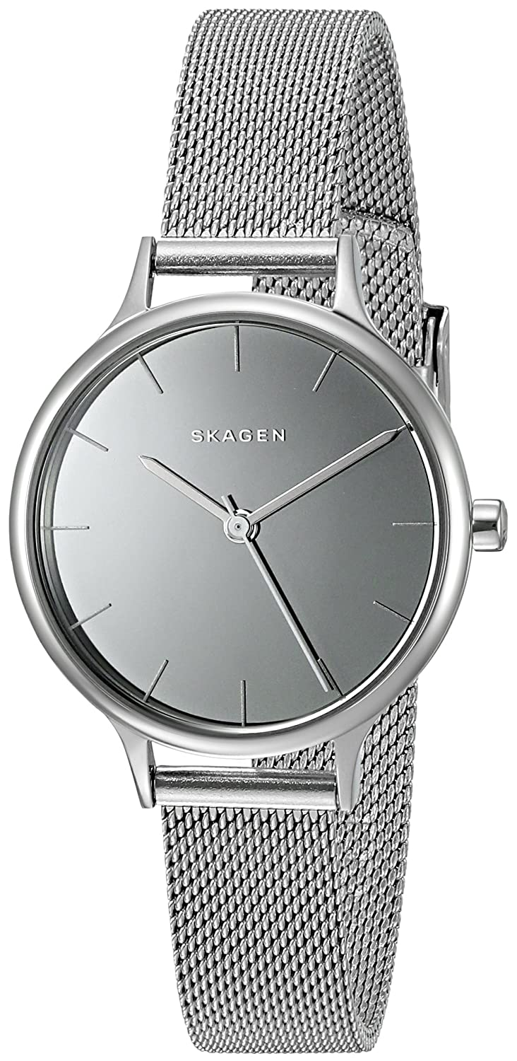 watch watches steel tq mesh anita skagen metal diamonds