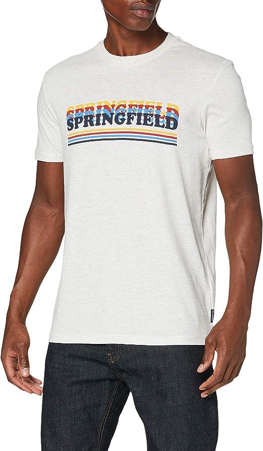 TALLA S (Tamaño del fabricante: S). Springfield Camiseta para Hombre