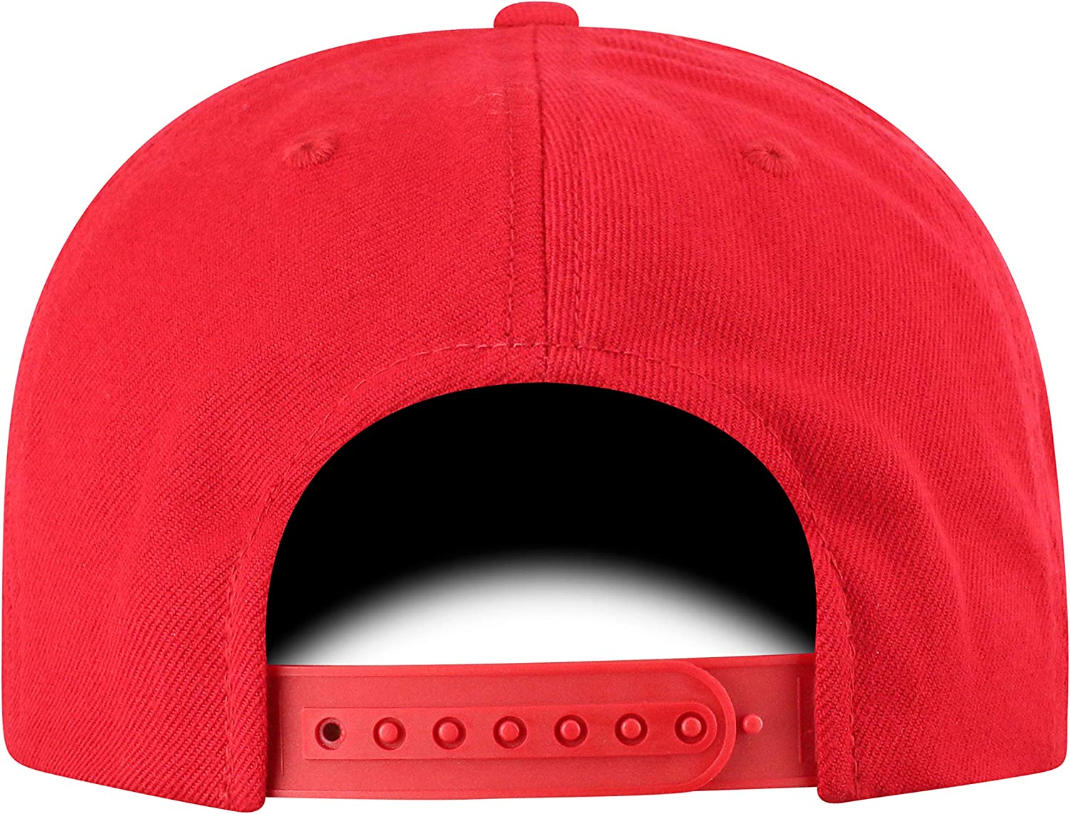 Ohio State Buckeyes Red Top of the World Mens Flat Brim Fitted Hat Team Icon Adjustable
