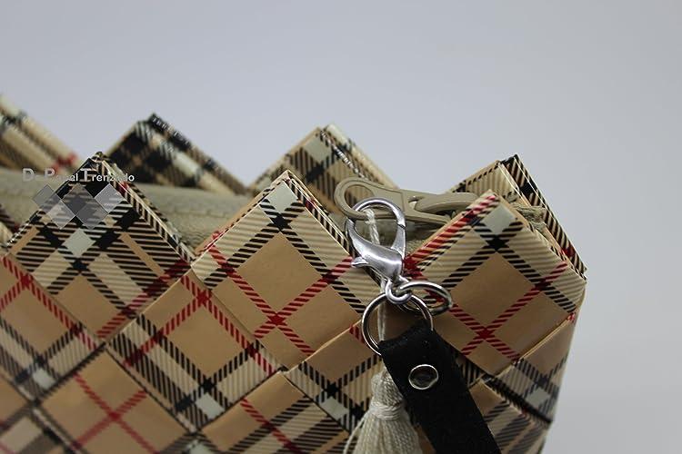 Bolso de mano para mujer London Beige reciclado. Cartera para mujer. El regalo perfecto para la mujer: Amazon.es: Handmade