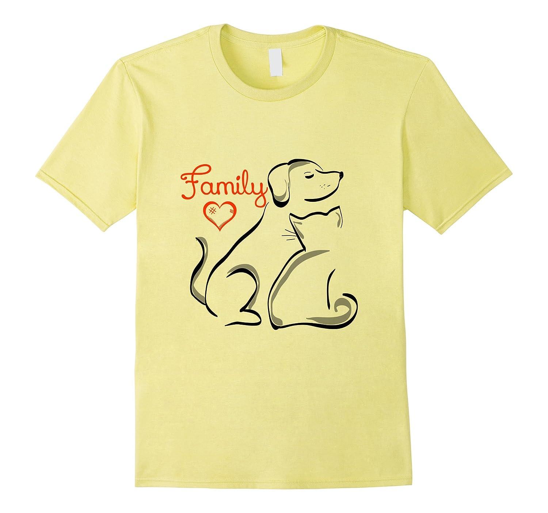 Pets are Family Cat Dog T-Shirt Men Women Youth T Shirt-FL
