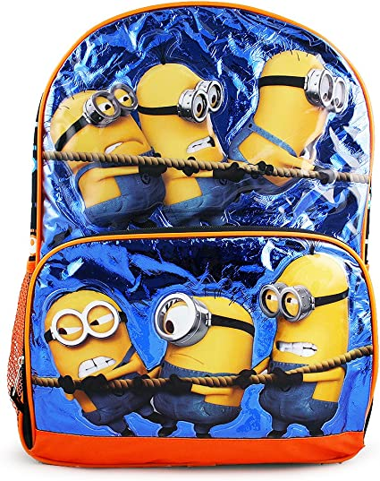 """NEW Licensed Despicable Me Minions 3 Large 16/"""" inches Blue School Backpack"""