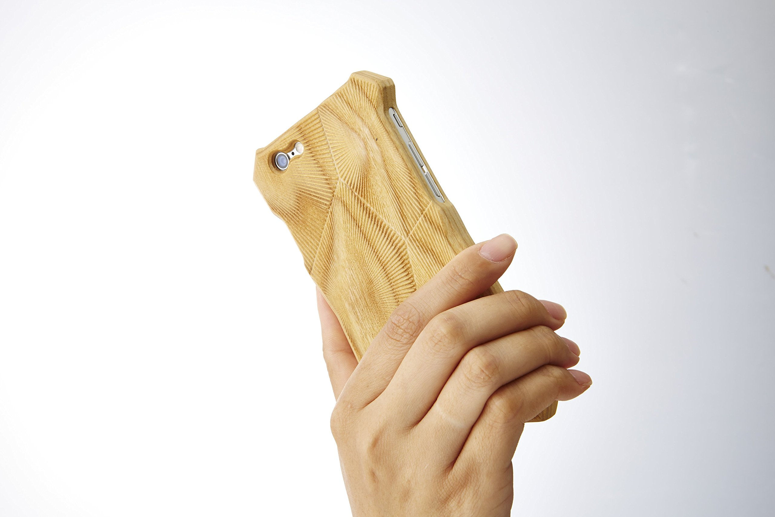 Simplism+   HIBIKI Case   iPhone 6   High-Quality Hand Crafted Design   100% Real Ash Wood   Vibration Suppression   Amplified Quality of Sound   Made in Japan