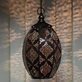 Homesake Antique Oval Moroccan Hanging Ceiling Lamp (Copper)