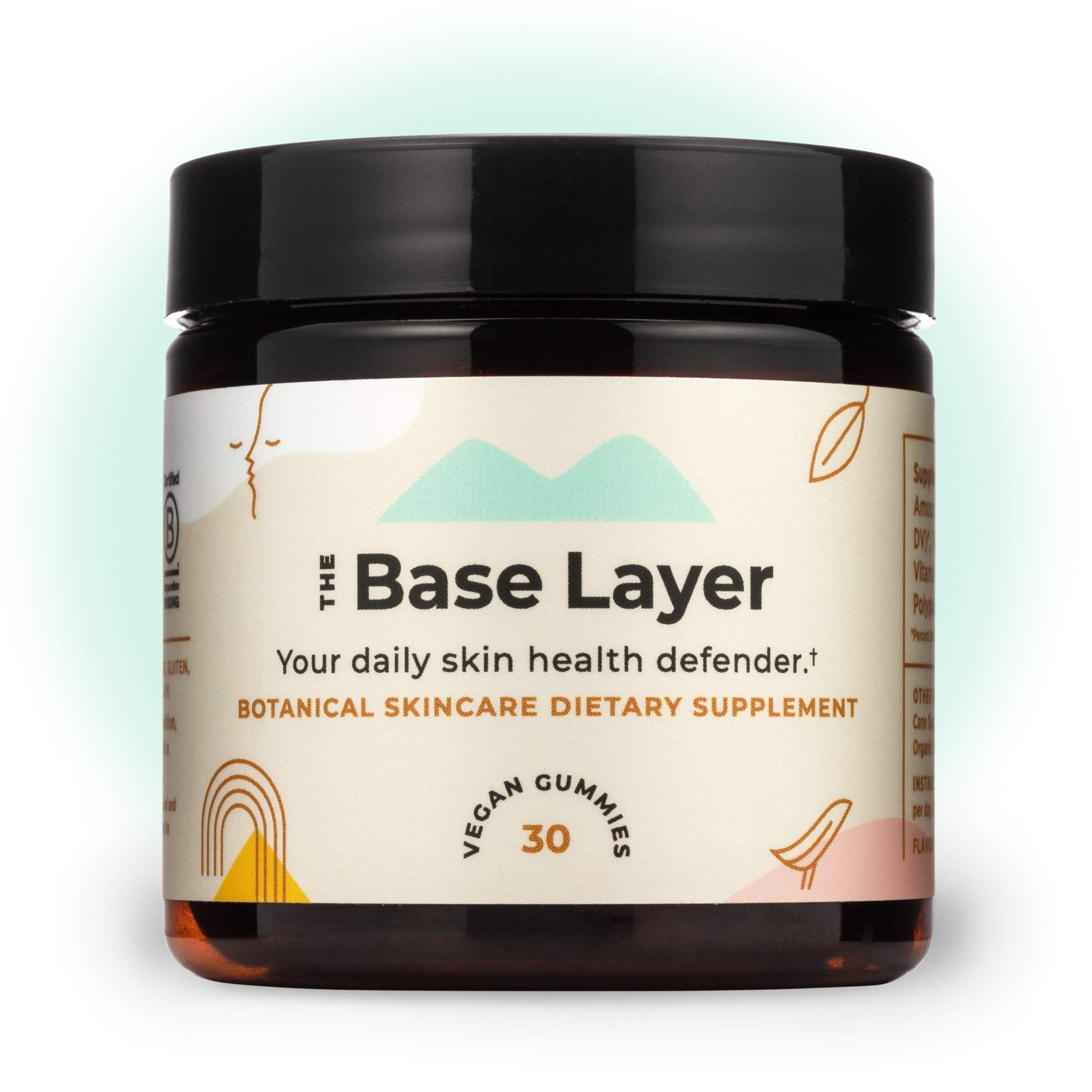 Sundaily - The Base Layer Chewable Skincare Gummy - Combat Free Radical Damage - Support Skin's Collagen - Enhance Smooth Texture - Polypodium Leucotomos Extract - Vitamin D3-30 Daily Vegan Gummies by Sundaily