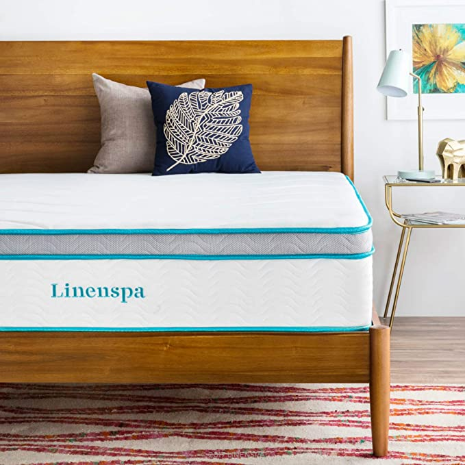 Amazon.com: LINENSPA 12 Inch Gel Memory Foam Hybrid Mattress - Ultra Plush - Individually Encased Coils - Sleeps Cooler Than Regular Memory Foam - Edge ...