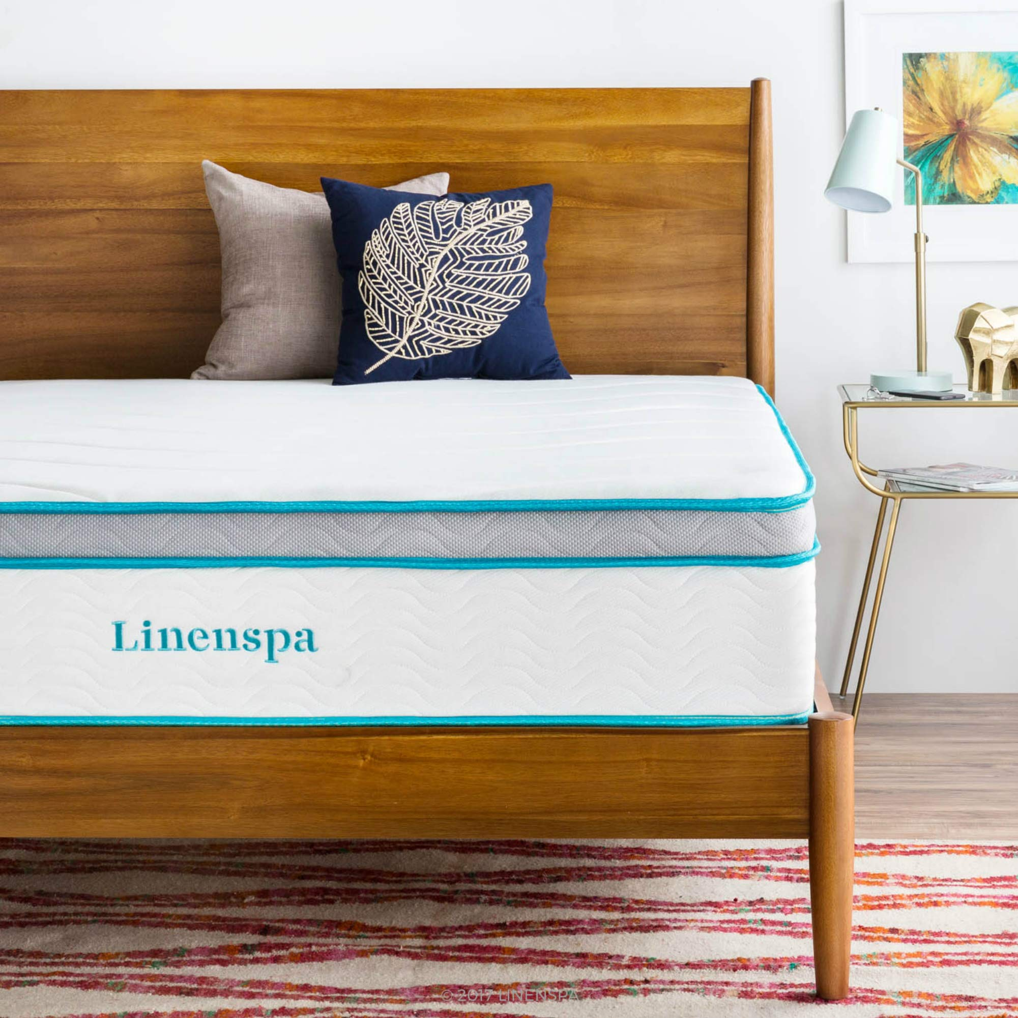 Linenspa 12 Inch Gel Memory Foam Hybrid Mattress - Ultra Plush - Individually Encased Coils - Sleeps Cooler Than Regular Memory Foam - Edge Support - Quilted Foam Cover - Twin