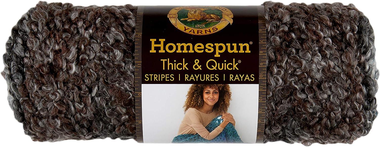 Lion Brand Homespun Thick & Quick Yarn, Midnight Stripes