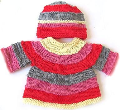 KSS Handmade Rainbow Unisex Baby Cardigan and Hat 3-6 Months