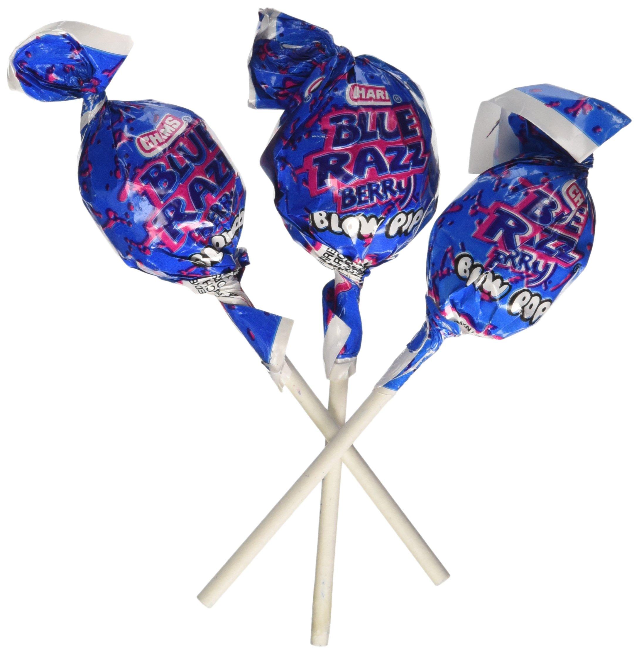 Charms Blue Razzberry Blow Pops Lollipops Quantity: 48