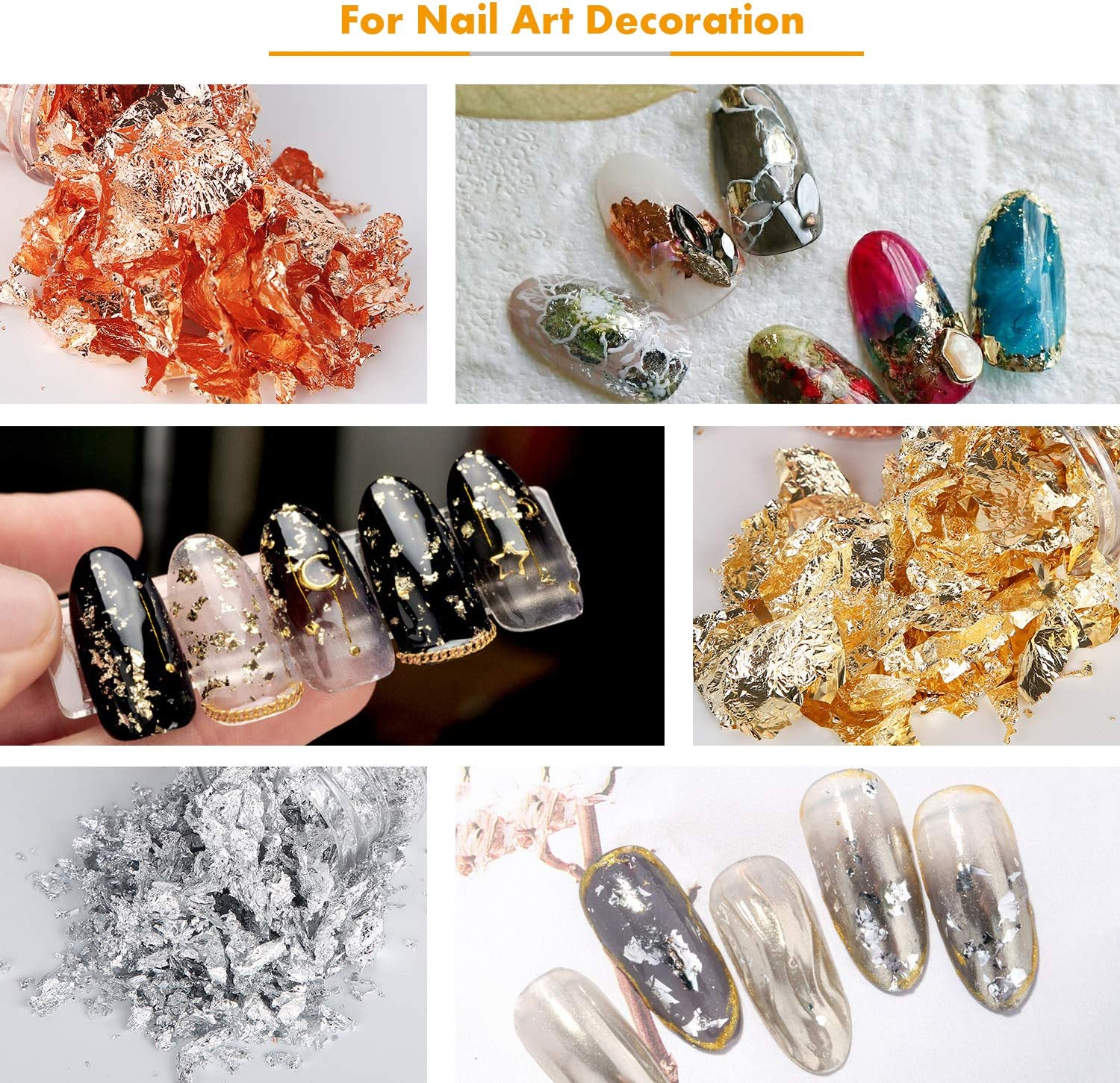 Slime and Resin Jewelry Making Crafts Gold Foil Flakes for Resin 3 Grams Painting Paxcoo Imitation Gold Foil Flakes Metallic Leaf for Nails