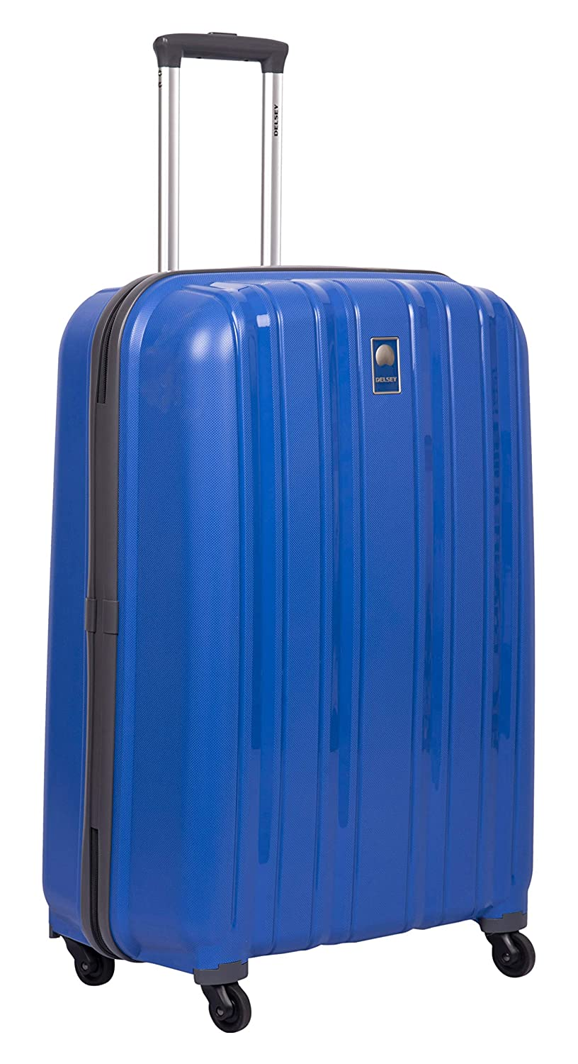 Delsey Cervin ABS 80 Cm 4 Wheels Blue Large Hard Suitcase